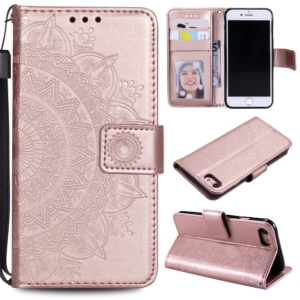 iPhone 7 8 se 2020 wallet case cover rose gold flower