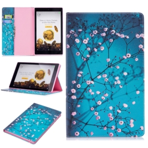 Wallet Stand Protective Tablet Case for Amazon Fire HD 10 (2015) (2017) - flowers