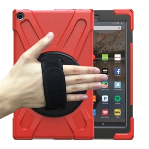 Heavy Duty Survivor Case for Kindle Fire HD 10 - red