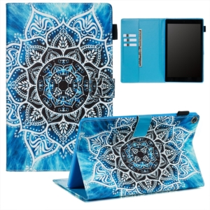 Wallet Stand Protective Tablet Case for Amazon Fire HD 10 (2015) (2017) - Mandala Flower