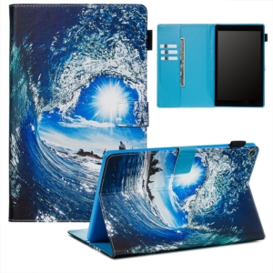 Wallet Stand Protective Tablet Case for Amazon Fire HD 10 (2015) (2017) - Wave