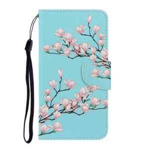 magnolia Pattern Wallet Case for Huawei Y5P