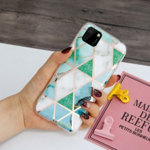 decoratve back cover for huawei Y5P Green marble