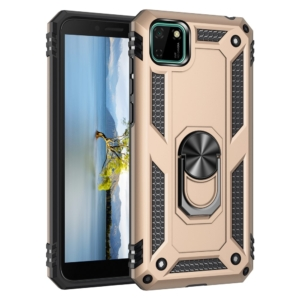 Ring Armour Cover for huawei Y5p gold