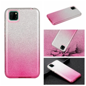 glitter cover for Huawei Y5P Pink silver