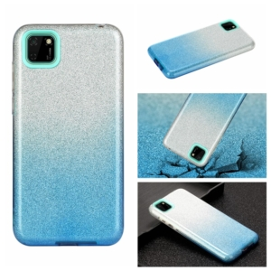 glitter cover for Huawei Y5P Blue silver