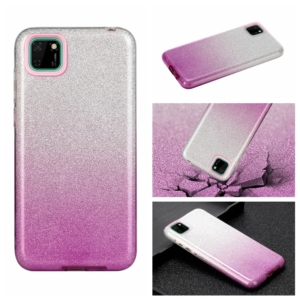 glitter cover for Huawei Y5P Purple silver