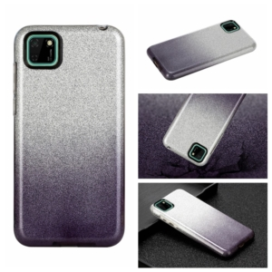 glitter cover for Huawei Y5P Black silver